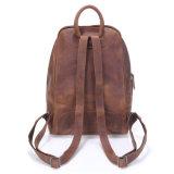 Backpack мешка школы кожи лошади ежедневной пользы Handmade шальной для студента