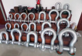 "3 "" 85t G2150の大きい造られた鋼鉄索具の弓アンカー旋回装置の手錠"