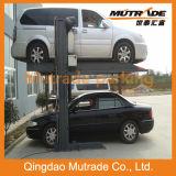 Estacionamiento del coche de la cubierta del doble de la elevación del poste de Mutrade dos
