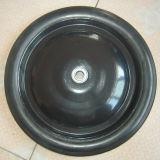 Roda contínua de borracha de aço do preto da borda ou da borda do plástico