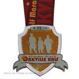 La race molle personnalisée de coureur d'événement de marathon d'émail attribue la médaille en métal