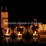 Vaso di vetro d'attaccatura Baublex1 della Tabella dei centri di cerimonia nuziale del candeliere del vaso del cristallo