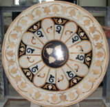 De marmeren Water-Jet Tegel van het Medaillon met de Kleur van de Mengeling (mozaïek-116)