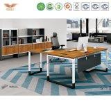 オフィスL形の木の管理の机(H90-0107)