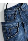 A sarja de Nimes arfa calças de brim da mulher