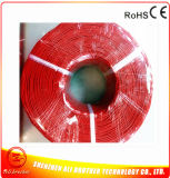 색깔 빨간 직경 2mm 220V 0.1ohm/M 실리콘고무 난방 케이블