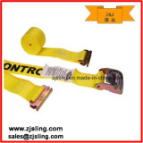 "2 ""X 12 'Amarelo E-Track Cam Strap W / Double-Fitted End"