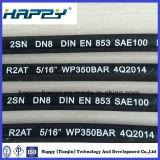En hydraulique tressée 853 R2 du tuyau SAE100/DIN de fil d'acier