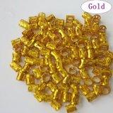 金および銀製の混合されたDreadlockは調節可能な毛のブレードの袖口クリップ8mm穴の毛のリングに玉を付ける