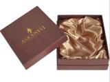 Luxuxgeschenk-Kasten, der mit Satin-Farbband verpackt