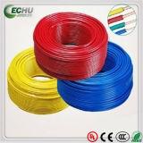 Fio elétrico cor amarela/verde da isolação do PVC