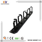 1u Metal Cable Manager con 5 Plastic Rings (WB-CA-03-5PR)
