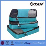De Kubussen van de Verpakking van de Zakken van de Compressie van de Bagage van de Organisator van de reis 3PCS