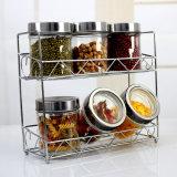 مستديرة [350مل] مطبخ حصة مرطبان زجاجيّة مع معدن من