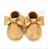 De Schoenen van de Peuter van de Baby van het Leer van kinderen
