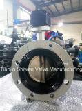 Дуктильная клапан-бабочка шестерни глиста утюга с диском Ss316
