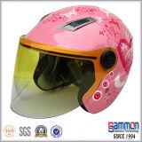 숙녀 (OP203가)를 위한 빨간 스쿠터 또는 모터바이크 또는 기관자전차 열리는 마스크 헬멧