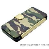 Abnehmbare militärische lederne Mappen-beweglicher Handy-Fall für iPhone