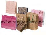 Bolsa de papel de arte/bolso de compras con insignia de la impresión