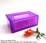 Caja colorida del tejido plexiglás / acrílico con el imán de la cubierta