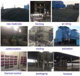 Filtro activado pelotilla a base de carbón del carbón