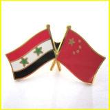 金によってめっきされる金属中国およびシリアのフラグPin
