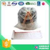 Sac d'ordures en plastique de cuisine avec le traitement de cordon