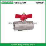 De aangepaste Kwaliteit Geplateerde Kogelklep van de Vlinder van het Messing (AV10038)