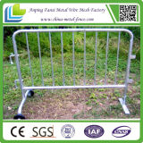 Route Safety Galvanized Steel Mobile Barrier avec Wheels