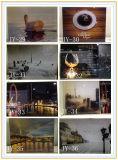 vidrio decorativo del arte de la calidad excelente de 3+3m m con diversos diseños