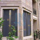 Schermo rivestito di plastica della finestra della vetroresina di colore grigio nero