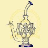 R24 Nido de abeja Adustable Roll Ball Birdcage Ducha Tobacco Glass Tubo de agua para fumadores Tabaco de reciclaje de alta calidad Tall Bow Bowl Glass Craft Ashtray Tubos de vidrio