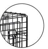Cage bon marché et commode de crabot