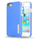 Silicón 2 del diseño de la manera en 1 caja del teléfono móvil para el iPhone 7