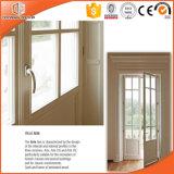 La porte articulée par bois en aluminium de type de l'Amérique, bonne vue effectue la porte en verre entière de Franch, portes chinoises de marque