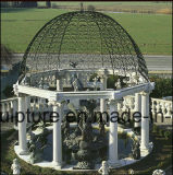 Antique White Carrara Qu Yang Stone Sculpture Marbre Gazebo (SY-G002)
