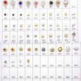 수정같은 못 예술 아름다움 합금 훈장 모조 다이아몬드 디자인 (D68)