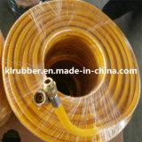 Tuyau jaune de jet de PVC de pression
