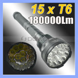 18000lm 5 Modes Light Waterproof 15 CREE Xml T6 LED Torch Tactical Flashlight