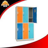 Tür-Schließfach des Metallmöbel-Fabrik-Zubehör-niedriger Preis-Stahl-sechs