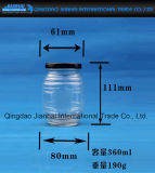 Honig-Glas legt Speicherglasflasche in Essig ein