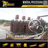 Seifenerz-Bergbau-gewundene Rutschkonzentrator-Schwerkraft-sortierende Mineralmaschine