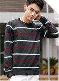 Nuovo disegno di vendita calda che lavora a maglia il maglione a strisce degli uomini spessi