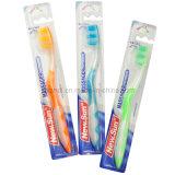 Erwachsene Zahnbürste mit Zahn-Massage des Hälfte-Transparenten Griffs