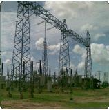 Transmisión y distribución de la línea de acero estructura de la subestación
