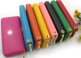 Бумажник PU самого нового цвета конфеты женщин кожаный
