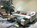 Sofá moderno popular caliente de la tela de la sala de estar