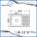 Boven de TegenGootsteen van de Keuken van Moduled van het Roestvrij staal (acs-8050SA)