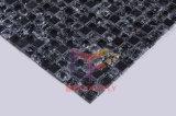 Tuile de mosaïque en verre criquée de mélange en pierre noir (CS127)