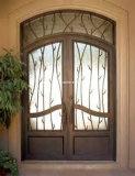 Portas de entrada superiores simples do dobro do ferro feito de Erebrown